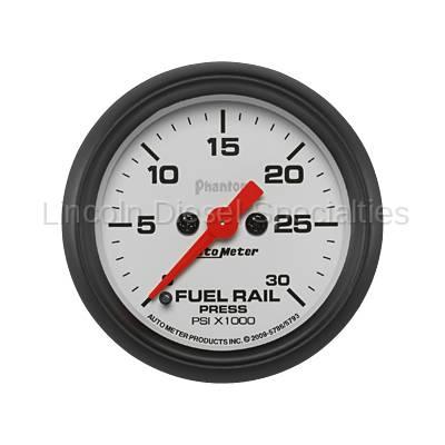 Auto Meter - Auto Meter Phantom Series Fuel Rail Pressure Gauge