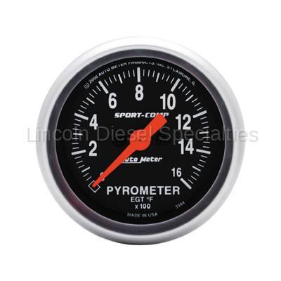Auto Meter - Auto Meter Sport-Comp Pyrometer Gauge (Universal)