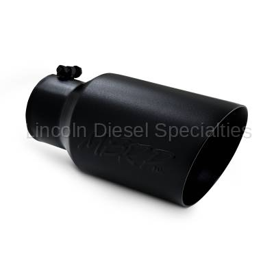 """MBRP - MBRP Universal 6"""" Dual Wall Angled Exhaust Tip-Black Finish (4"""" Inlet, 6"""" Outlet)"""