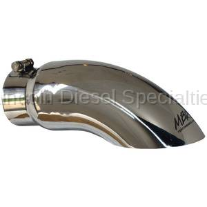 """MBRP - MBRP Universal 5"""" Single Wall Turn Down Exhaust Tip (4"""" Inlet, 5"""" Outlet)"""