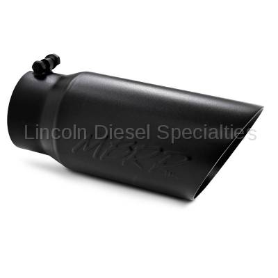 """MBRP - MBRP Universal 5"""" Dual Wall Angled Exhaust Tip-Black Finish (4"""" Inlet, 5"""" Outlet)"""