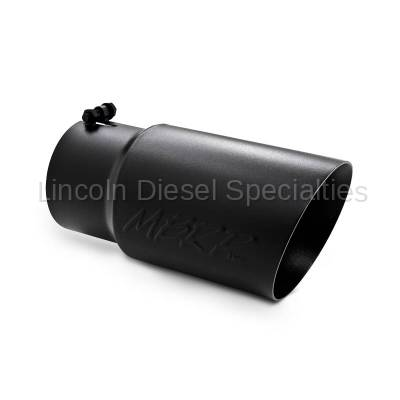 """MBRP - MBRP Universal 6"""" Dual Wall Angled Exhaust Tip-Black Finish (5"""" Inlet, 6"""" Outlet)"""