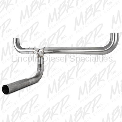 """MBRP - MBRP SMOKERS™ Universal XP Series 4"""" Dual T409 """"T"""" Pipe Kit"""