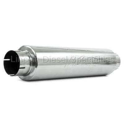 """MBRP - MBRP Universal 4""""Quiet Tone Muffler 4""""Inlet 4"""" Outlet, 30"""" Overall length, T409 Stainless"""