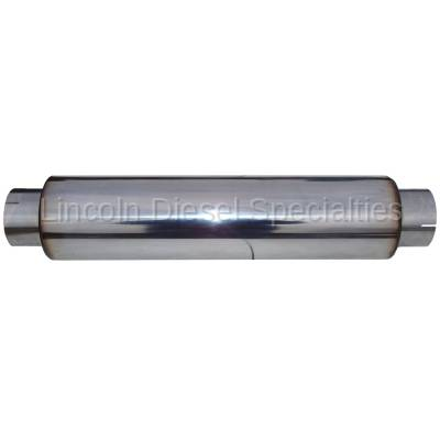 """MBRP - MBRP Universal Muffler 4' Inlet 4"""" Outlet 24"""" Body,T304 Stainless, 30"""" Overall Length"""