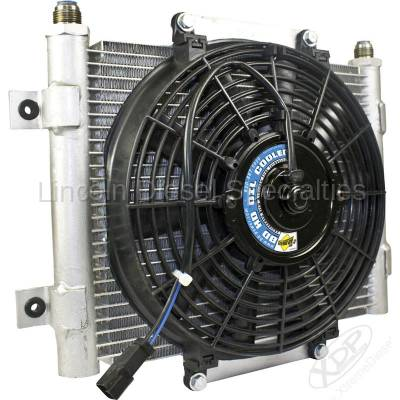 BD Diesel Performance - BD-Power Xtruded Auxiliary Trans Cool with Fan -10 JIC Male Connection  (Universal)