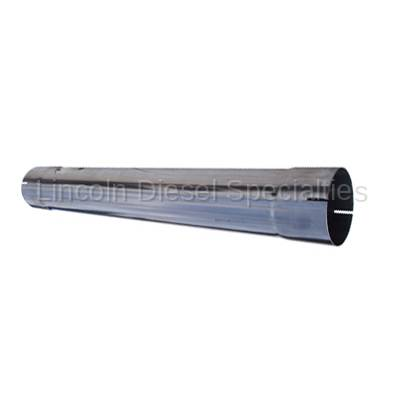 "Banks - Banks Power Universal 4"" Muffler Delete Pipe 4"" Inlet/Outlet 28.5 Overall Length, T409 Stainless Steel"