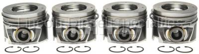 Mahle - MAHLE Duramax Left Bank Pistons w/Rings.040 (Set of 4)(2006-2010)