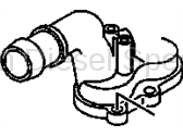 GM OEM Duramax Van Engine Coolant Outlet Pipe/ Thermostat