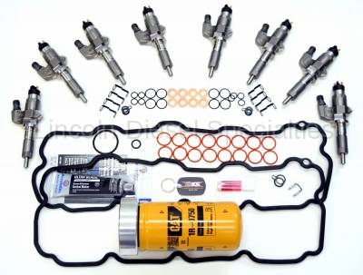 2001-2004 LDS LB7 45% SAC Style Fuel Injectors with FREE Master Install Kit