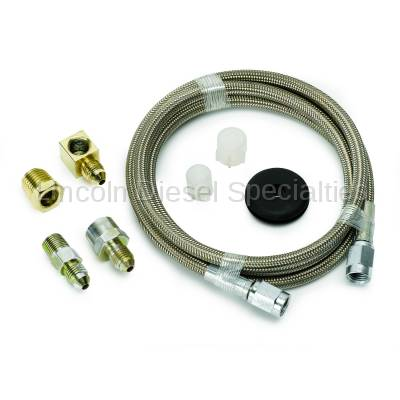 """Auto Meter - Auto Meter Braided Stainless Steel Line, #3 DIA., 3FT.Lgnth, -3AN AND 1/8"""" NPTF Fittings (Universal)"""