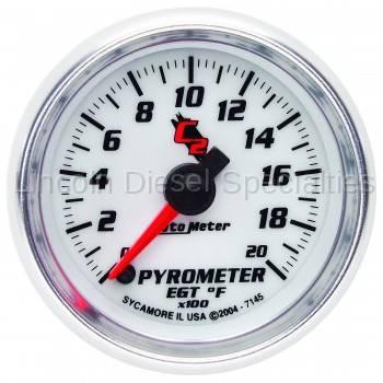 Auto Meter - Auto Meter C2 Series Pyrometer Gauge (0-2000 F)