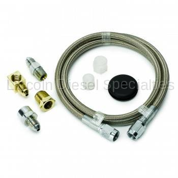 """Auto Meter - Auto Meter Braided Stainless Steel Line, #4 DIA., 4FT.Lgnth, -4AN AND 1/8"""" NPTF Fittings (Universal)"""