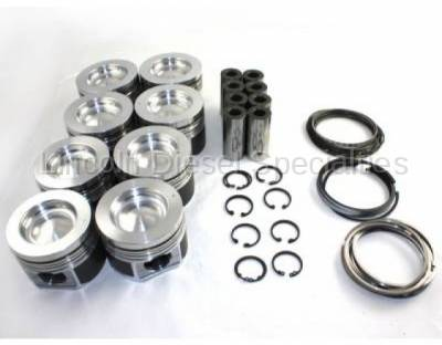 Mahle Motorsport - MAHLE Motorsports Performance Cast Pistons Kit ,.040 16.6CR w/.075 Pockets (Delipped with Machine Valve Reliefs) 2001-2016