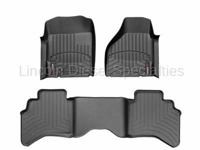 WeatherTech - WeatherTech Dodge/Ram Front & 2nd Row Set, Crew Cab  Laser Measured Floor Liners (Black) 2012-2017