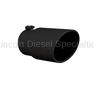 """MBRP - MBRP Universal 6"""" Angled Rolled Exhaust Tip , 5"""" Inlet, 6"""" Outlet (Black Coated)"""