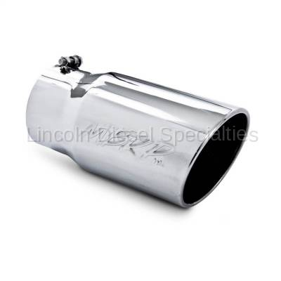 "MBRP - MBRP Universal 6"" Angled Rolled Exhaust Tip , 5"" Inlet, 6"" Outlet ,T304"