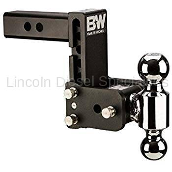 """B & W Hitches - B&W Tow & Stow  Receiver Hitch, Dual Ball (2"""" & 2-5/16"""") 5"""" Drop / 4.5"""" Rise (Universal)"""