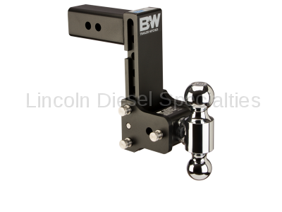 """B & W Hitches - B&W Tow & Stow Receiver Hitch, Dual Ball (2"""" & 2-5/16"""") 7"""" Drop / 7.5"""" Rise (Universal)"""