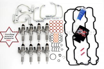 BOSCH - 2001-2004 OEM Genuine BOSCH® Reman LB7 Fuel Injectors with Install Kit