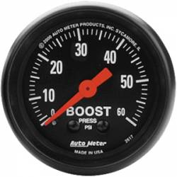 2017-2020- L5P VIN Code Y - Gauges & Pods - Auto Meter - Auto Meter Z-Series Boost Gauge
