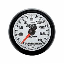 Gauges & Pods - Gauges - Auto Meter - Auto Meter Phantom II Series Pyrometer Gauge