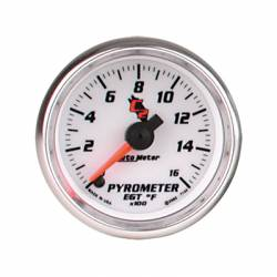 Gauges & Pods - Gauges  - Auto Meter - Auto Meter C2 Series Pyrometer Gauge (0-1600 F)