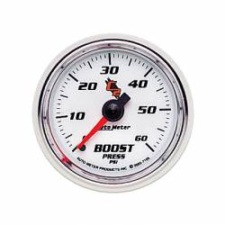 Gauges & Pods - Gauges  - Auto Meter - Auto Meter C2 Series Boost Gauge-Mechanical (0-60 PSI)