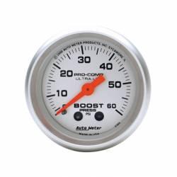 Auto Meter - Auto Meter Ultra-Lite Boost Gauge-Mechanical
