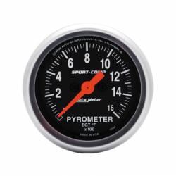 Gauges & Pods - Gauges  - Auto Meter - Auto Meter Sport-Comp Pyrometer Gauge (Universal)