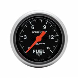 Gauges & Pods - Gauges  - Auto Meter - Auto Meter Sport-Comp Fuel Pressure Gauge
