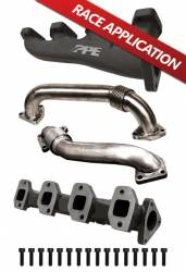 Exhaust  - Exhaust Manifolds & Up Pipes - PPE - PPE High-Flow Race Exhaust Manifolds with Up-Pipes ~ Single Turbo (2001-2016)