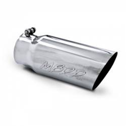 """MBRP Universal 5"""" Angled Single Walled Straight Exhaust Tip (4"""" Inlet, 5"""" Outlet)"""