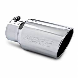 """MBRP Universal  6"""" Angled Rolled End T304 Exhaust Tip ( 4"""" Inlet, 6"""" Outlet)"""