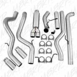"""MBRP - MBRP Dual Installer Series, 4"""" Down Pipe Back, Cool Duals™, Off-Road, Exhaust System, AL w/ Front Pipe, Muffler, and Tips - Image 4"""