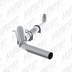 "MBRP - MBRP 5"" Performance Series Down Pipe Back Single Side Aluminized Exhaust System with Front Pipe and Muffler, NO Tip"