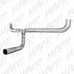 "MBRP - MBRP SMOKERS™ Universal  Installer Series 4"" Dual ""T"" Pipe Kit Aluminized Steel  - Image 1"
