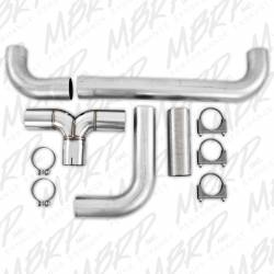 """MBRP - MBRP SMOKERS™ Universal  Installer Series 4"""" Dual """"T"""" Pipe Kit Aluminized Steel - Image 2"""