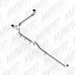 "Exhaust Systems - Stack Systems and Smoker Kits - MBRP - MBRP SMOKERS™ 5"" Installer Series Dual Down Pipe Back Aluminized Exhaust System, Includes Front Pipe"