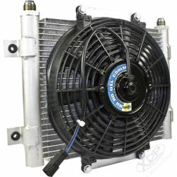 Transmissions - Transmisssion Coolers/Fans - BD Diesel Performance - BD-Power Xtruded Auxiliary Trans Cool with Fan -10 JIC Male Connection  (Universal)