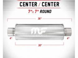 "Magnaflow - Magnaflow Universal 30"" Stainless Steel Muffler , 4"" Inlet , 4""Outlet, 30"" Length ,Satin Finish - Image 2"