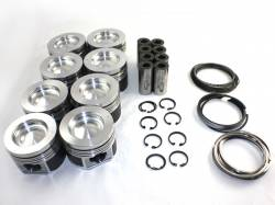 Engine - Pistons & Rods - Mahle Motorsport - MAHLE DeLipped /Coated Performance Cast Piston Kit STD 16.8CR No Pockets (2001-2016)