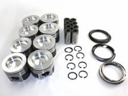 Mahle Motorsport - MAHLE Motorsports DeLipped /Coated Performance Cast Piston Kit STD 16.8CR No Pockets (2001-2016)