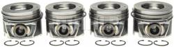 Engine - Pistons & Rods - Mahle - MAHLE Duramax Left Bank Pistons w/ Rings STD (Set of 4) (2006-2010)