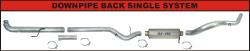 "FLo-Pro - Flo-Pro 5"" Aluminized Downpipe Back Single Exhaust System No/Muffler"