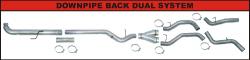 "FLo-Pro - Flo-Pro 4"" Downpipe Back Duals  Race Exhaust System"