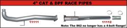 """FLo-Pro - Flo-Pro  4"""" Aluminized Cat & DPF Race Pipes Systems"""