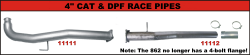 "FLo-Pro - Flo-Pro 4"" Aluminized Cat Race/Delete Pipe System"