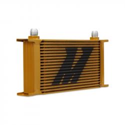 2011-2016 LML VIN Code 8 - Cooling System - Mishimoto - Mishimoto Universal 19 Row Oil Cooler (Gold)
