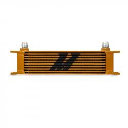 2011-2016 LML VIN Code 8 - Cooling System - Mishimoto - Mishimoto Universal 10 Row Oil Cooler (Gold)